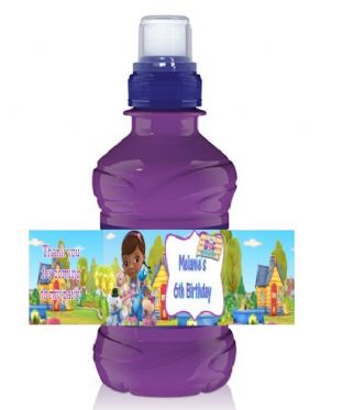Doc McStuffins Bottle Label Wrapper.